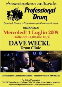 Clinic con Dave Weckl